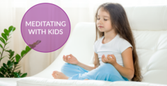 meditating with kids