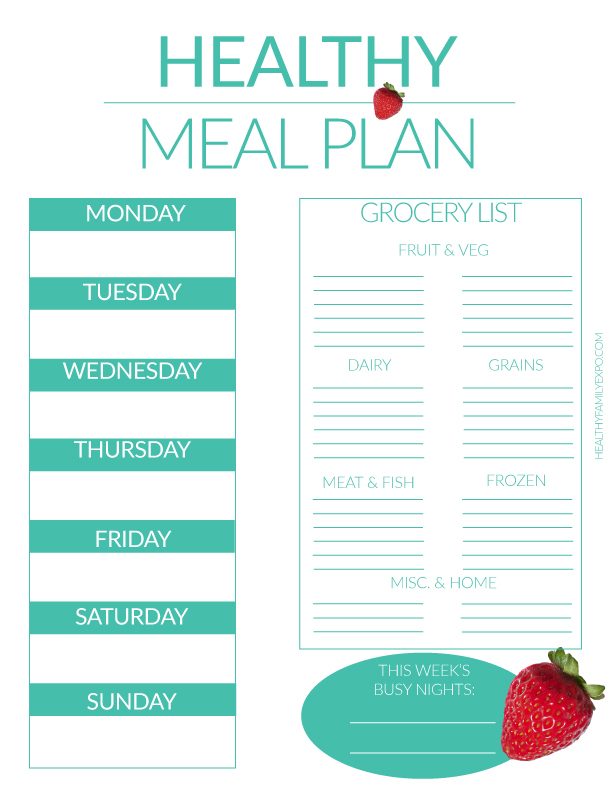 Meal Planning   Tips To Become A Pro  Healthy Family Expo
