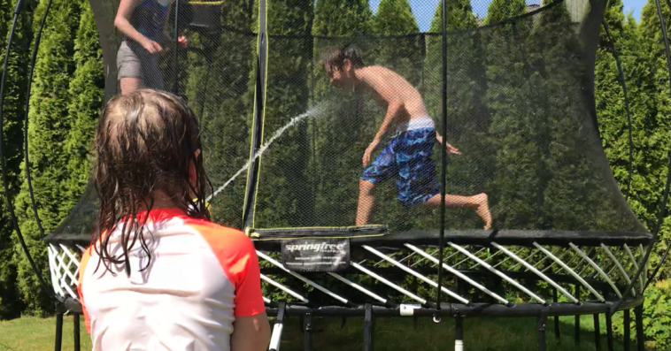 summer trampoline games