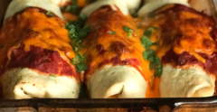 turkey & veggie enchiladas
